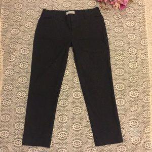 GAP Slim cropped checkered black dress pants 2 s